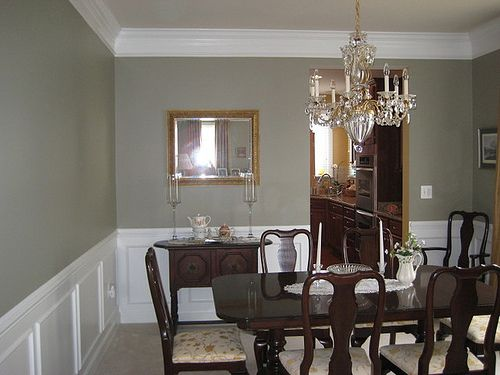 green dining room colors. [Real Homes] Gray Green Dining Room: Ellen Kennon\u0027s \u0027Ashen Green\u0027 Room Colors