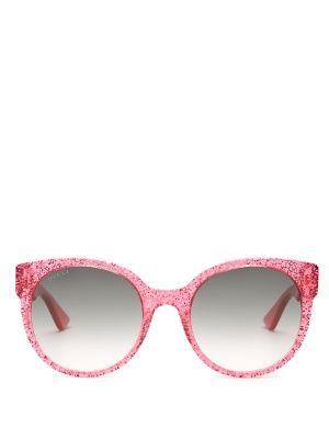 401c43c383 Round-frame glitter-acetate sunglasses