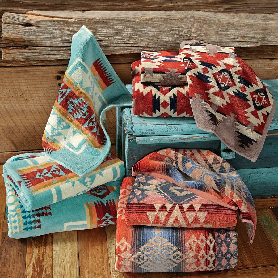 These Southwest Tribal Print Bath Towels Will Wow Any Guest