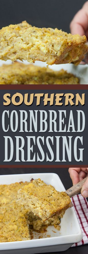 Southern Cornbread Dressing Recipe #cornbreaddressing