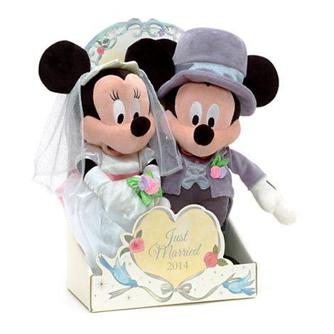 Micky und Minnie Maus Hochzeitspaar Kuschelpuppe