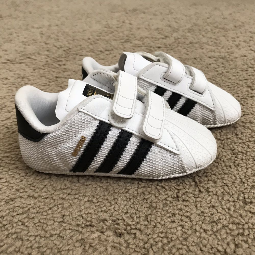 Adidas Originals Superstar Crib Shoes for Baby White