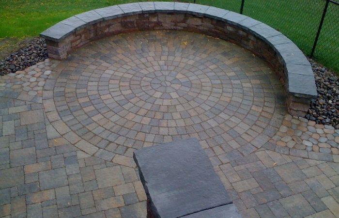 Por Round Patio With Designs Heres A Circular Brick Paver Kit Home Depot Semi Circle Outdoor Half Moon Set