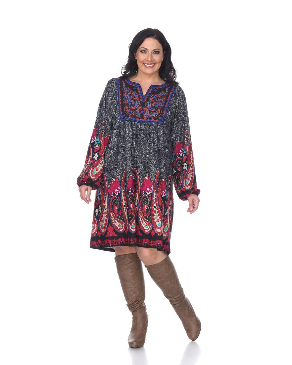 Women S Plus Size Apolline Embroidered Sweater Dress Plus Size Dresses Stein Mart Sweater Dress Dress With Sneakers Embroidered Sweater [ 1250 x 1000 Pixel ]
