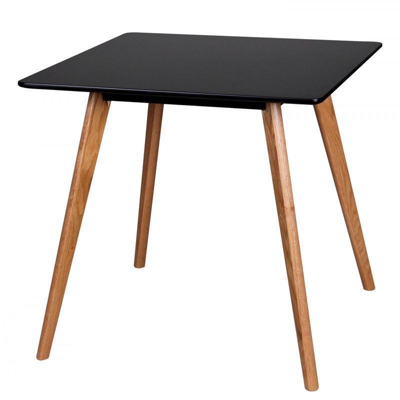 Retro Design Esstisch 80 x 80cm matt Schwarz Esszimmertisch - Moderne Tische Fur Wohnzimmer