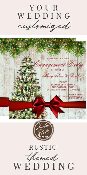 Christmas Engagement Party Tree, Lights & Ribbon Invitation   Zazzle.com #dressesforengagementparty