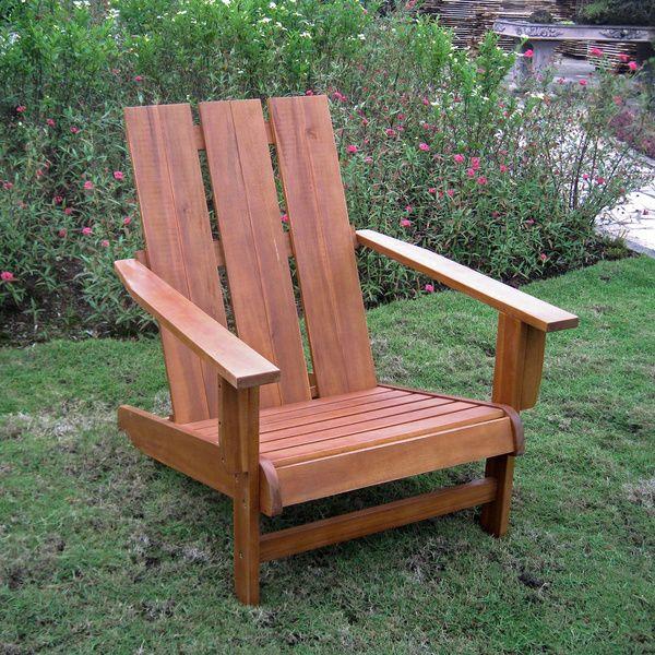 International Caravan Acacia Square back Adirondack Patio Chair