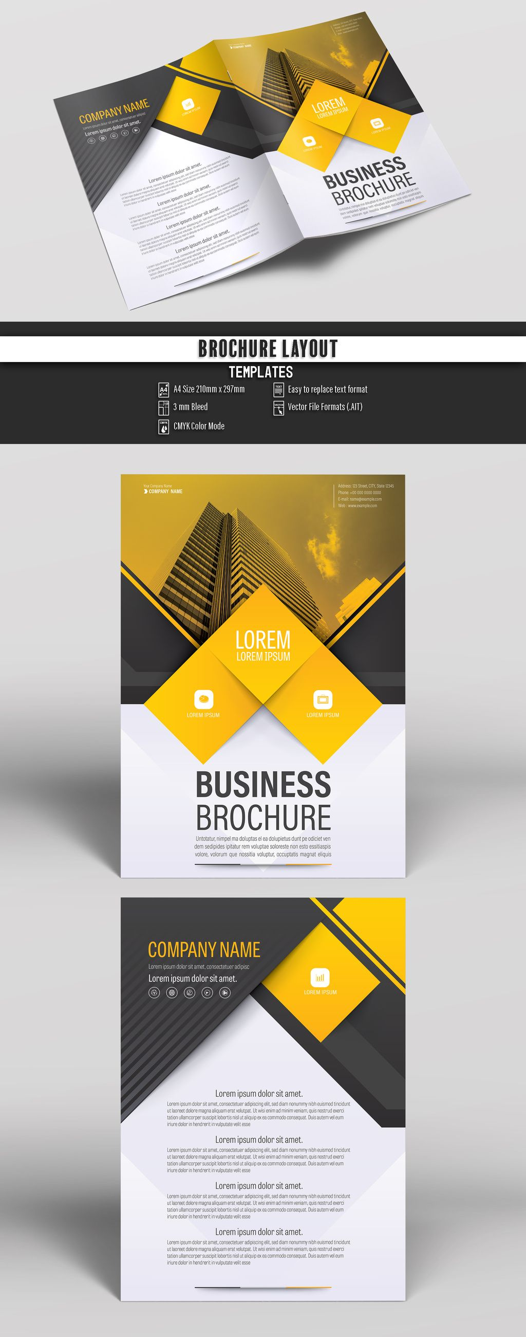 Buy this stock template and explore similar templates at Adobe Stock Brochure Business Proposal Booklet Flyer Template Design Layout Cover Book