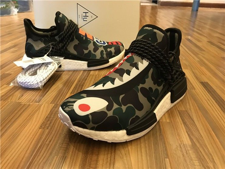 02f172cdcd179 Men s Adidas NMD Human Race WGM Shark Running Shoes