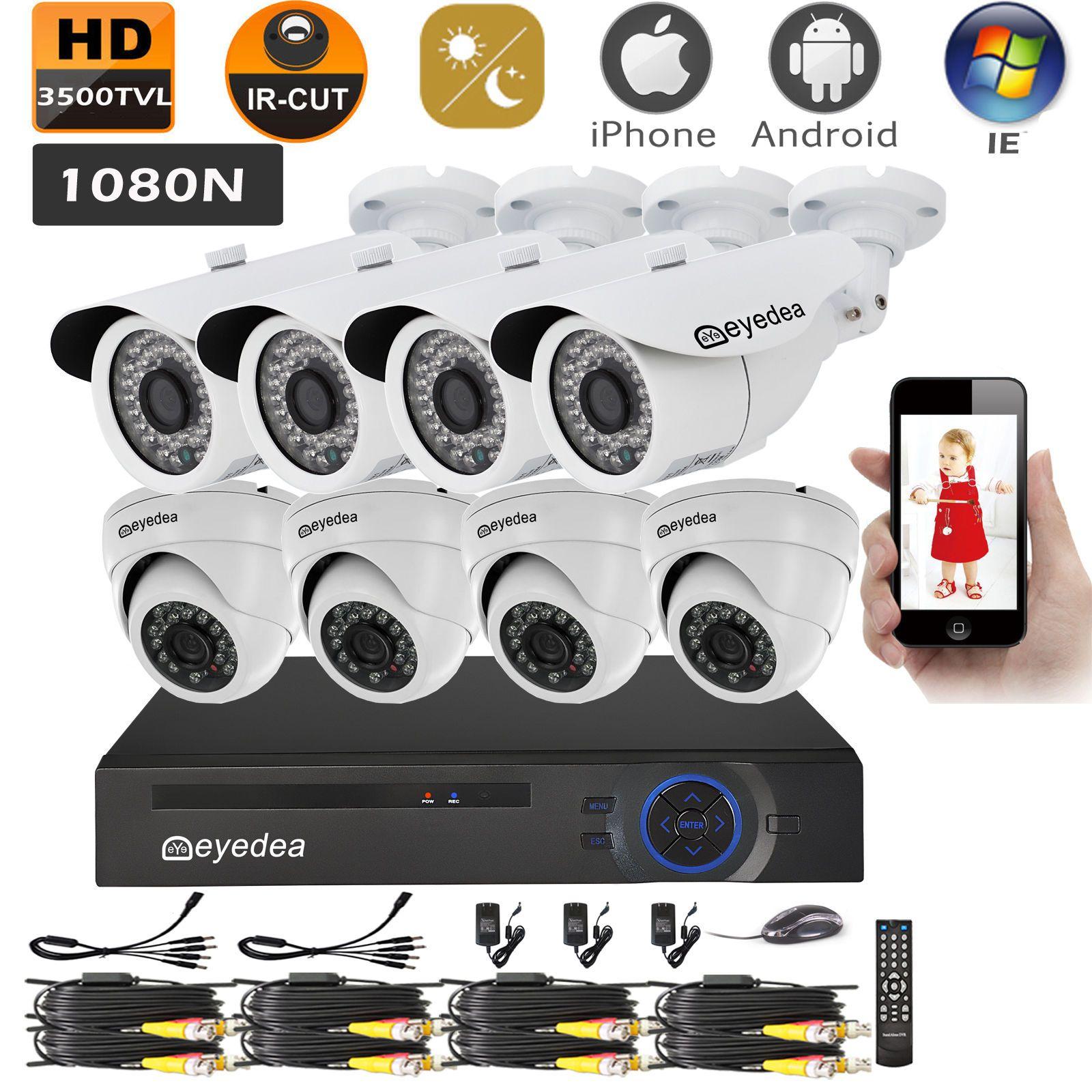 8 CH HD 1080N HDMI DVR 3500TVL CMOS LED CCTV Security Camera Night Vision System