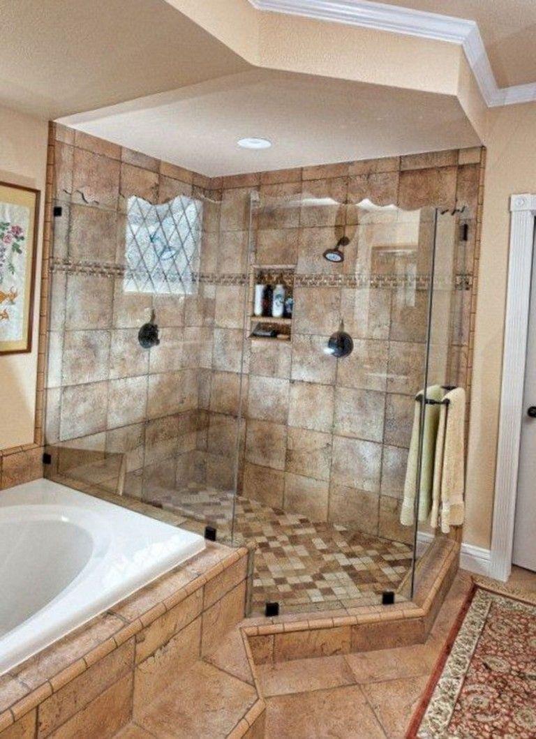 65 Elegant Master Bathroom Design Ideas For Amazing Homes Master Bedroom Bathroom Bathroom Remodel Master Bathroom Remodel Shower