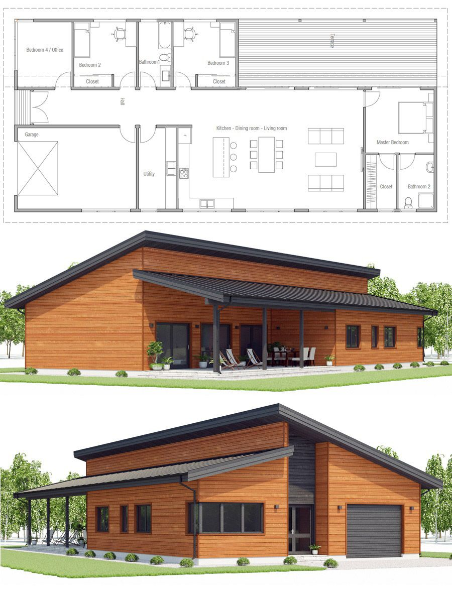 Planta de casa planos casas simple house plans new also and home in rh pinterest