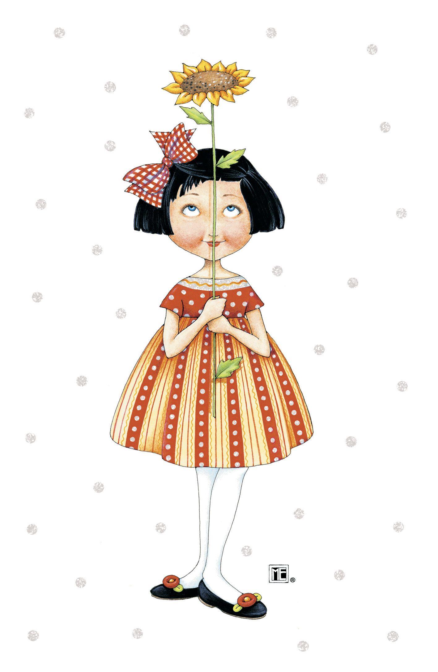 Happy birthday sunflower card by mary engelbreit