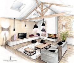 nice d co salon conception et d coration d 39 une cuisine entr e et pi ce vivre naintr 86. Black Bedroom Furniture Sets. Home Design Ideas