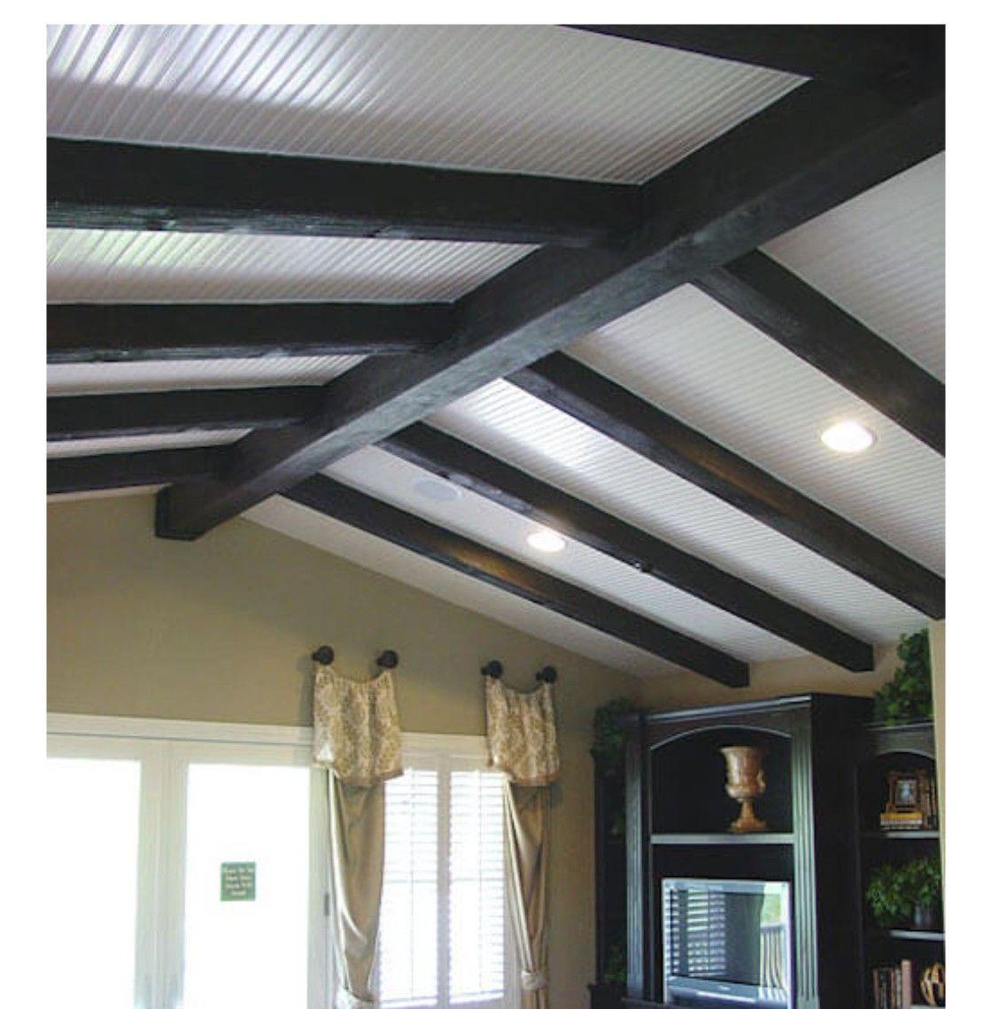 Beautiful Basement Wood Ceiling Ideas
