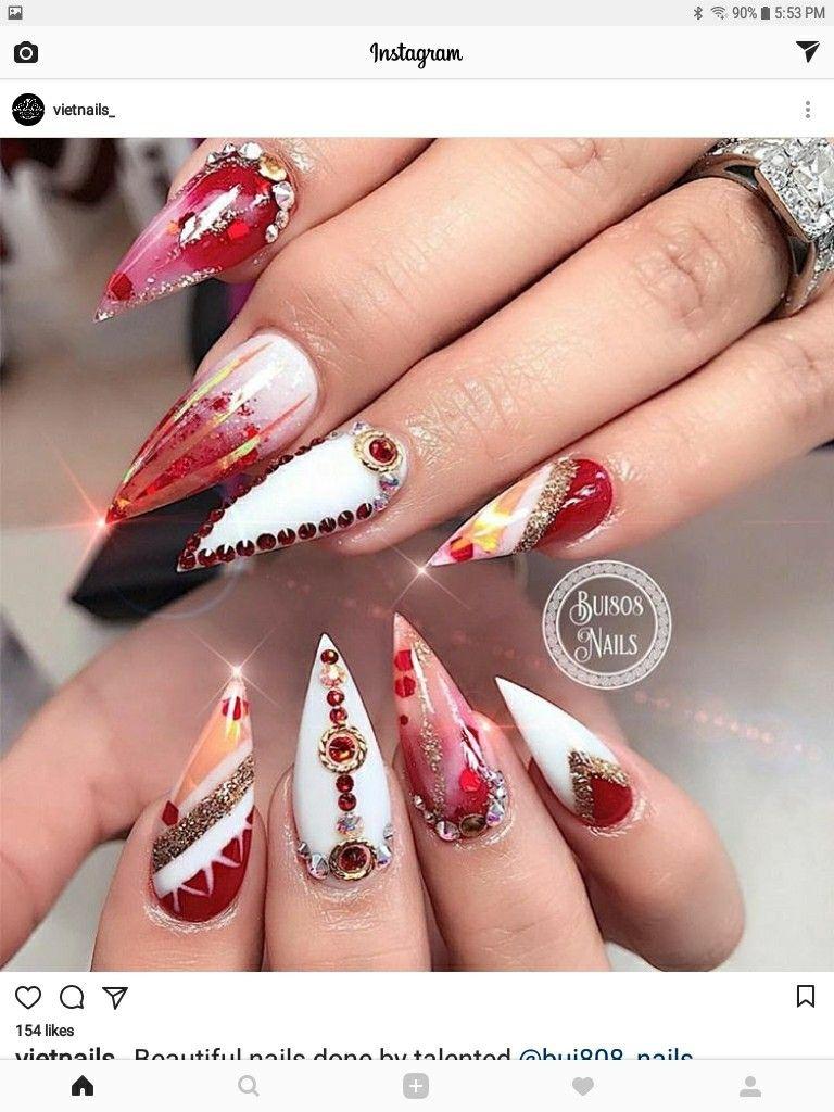 Pin by Keyzboards * on Nailssssss | Pinterest | Manicure, Xmas nails ...