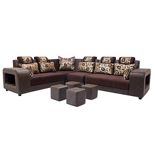 Woodpecker Saffron Six Seater L Shaped Sofa Marble Brown Https