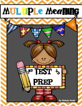 Multiple Meaning Words Test PrepNd Or Rd Grade  Multiple