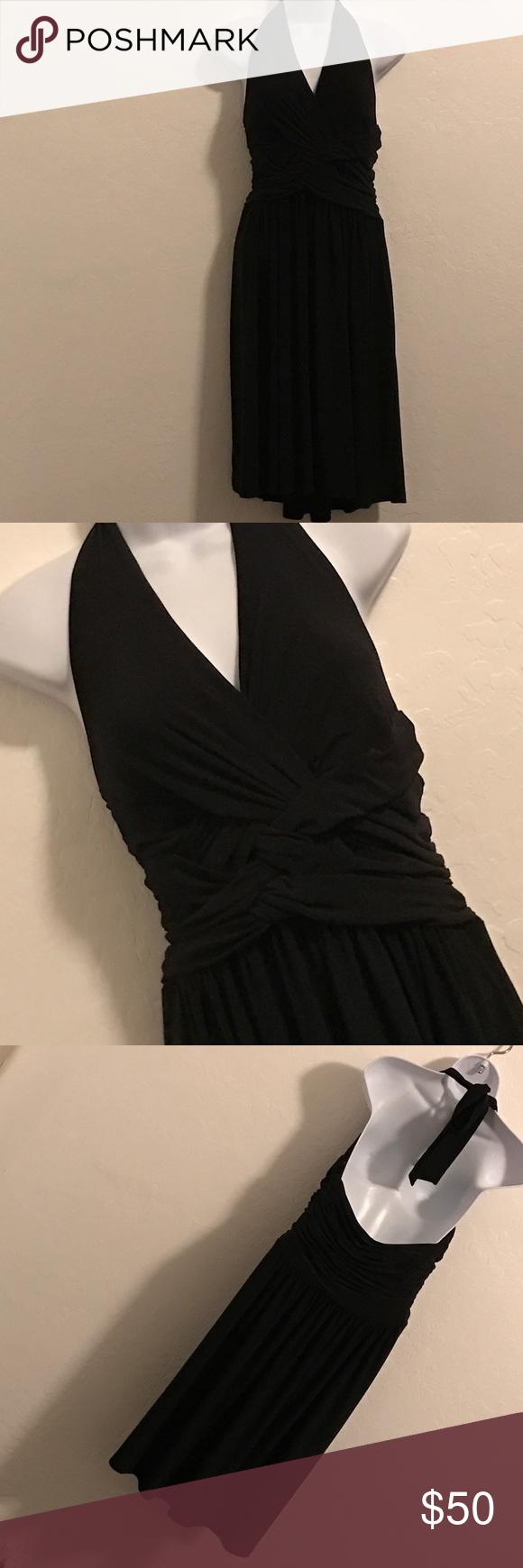🆕 (PLUS) Jones New York Black Halter Dress