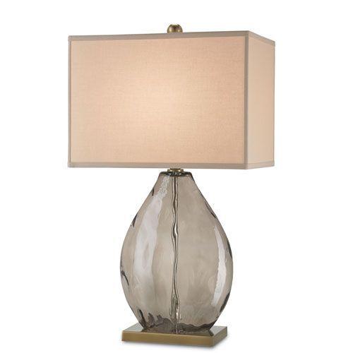 Brooke Dark Smoky and Coffee Brass One-Light Table Lamp