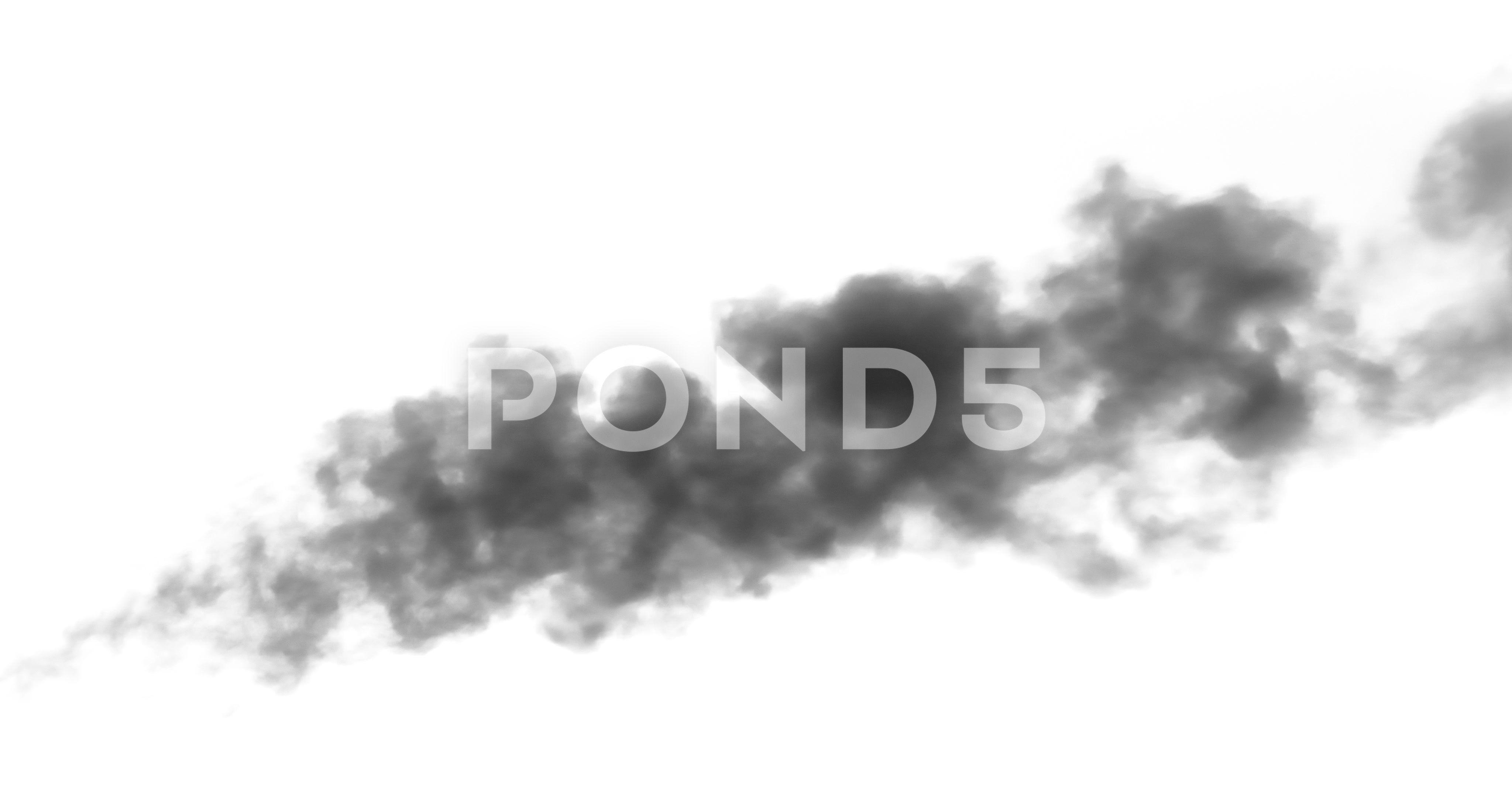 Black Smoke a Burning Object 4K wb Stock Footage Burning