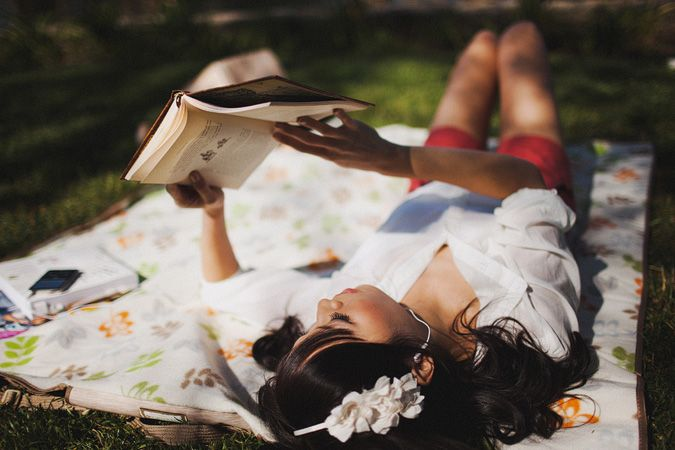 can't wait until it's sunny enough to read in the park