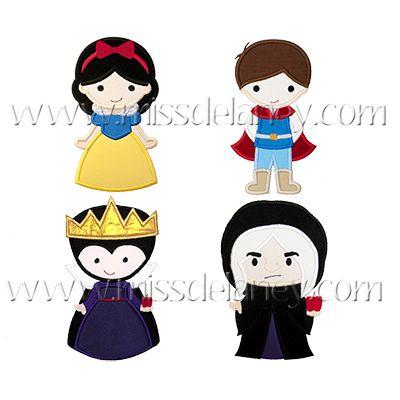 Snow Princess Applique Designs