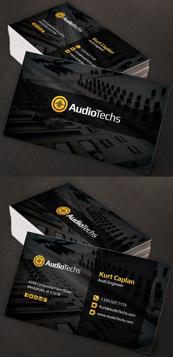 Audio engineer business cards logo top sound pinterest audio engineer business cards logo flashek Choice Image