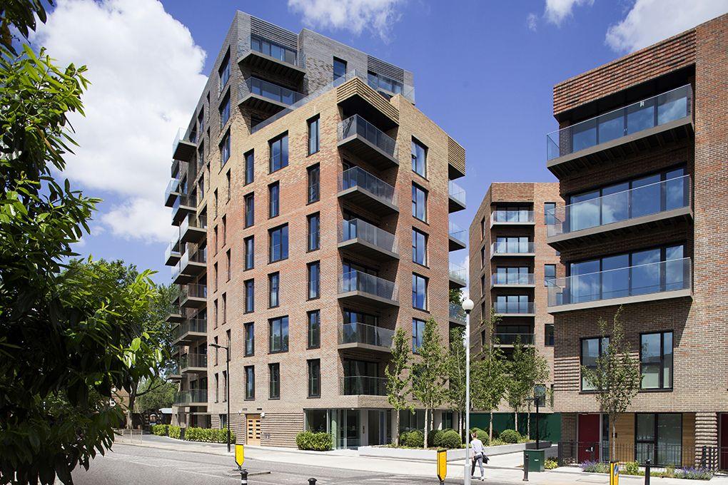 Beautiful Tall Brick Apartment Building