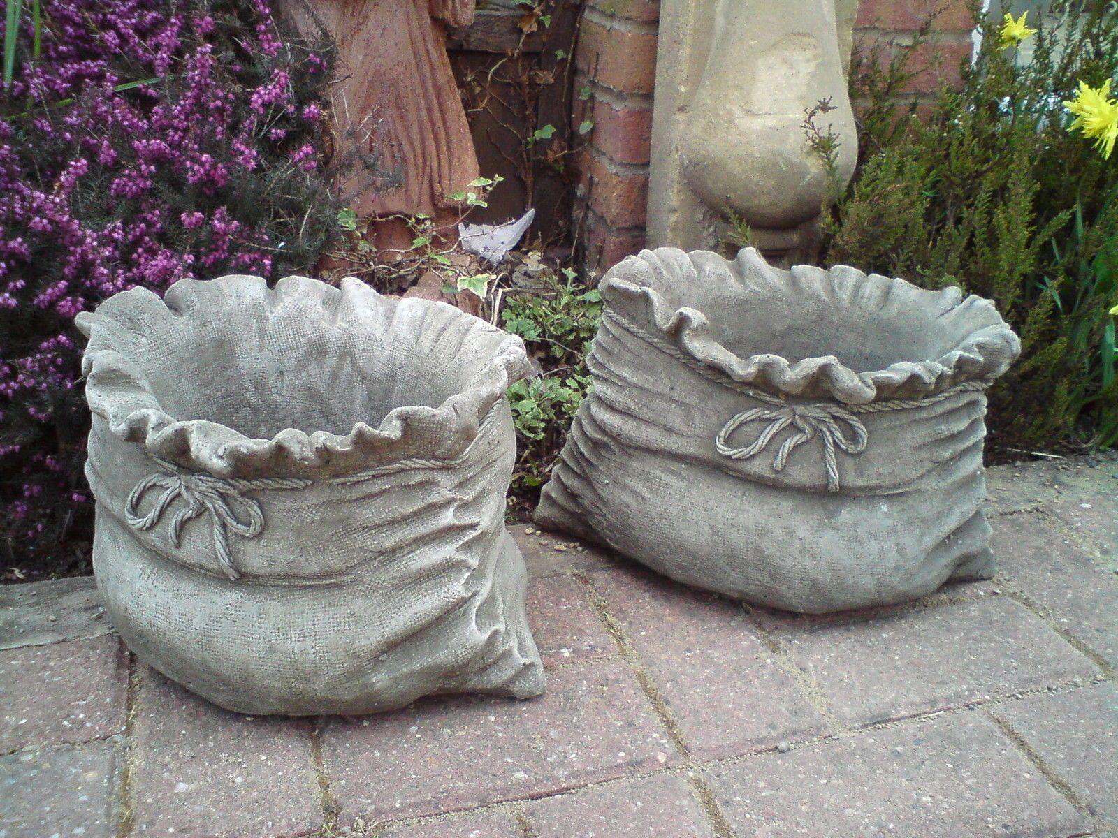 Sack Pot Hand Cast Stone Garden Ornament Flower Planter Basket Patio Onefold Uk Ebay In 2020 Concrete Diy Projects Concrete Diy Diy Concrete Planters