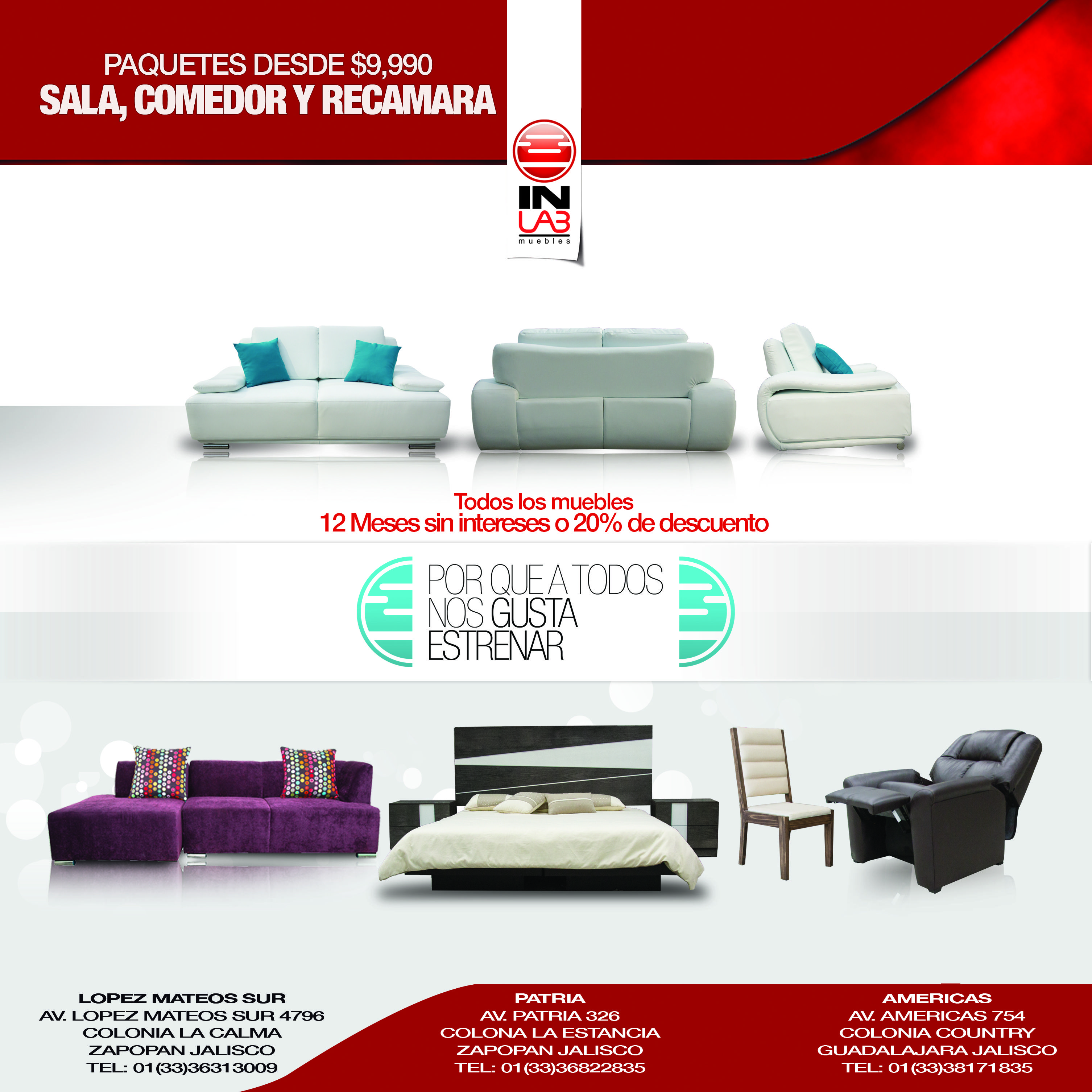 Nueva linea de muebles y salas de inlab muebles for Nueva linea muebles