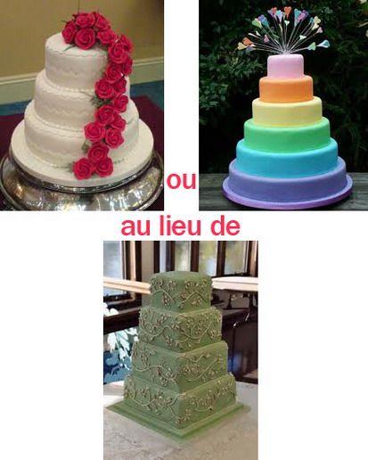 GпїЅteau de mariage pas cher