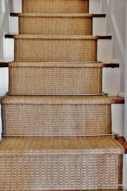 Inexpensive Option For A Stair Runner Rustic Stairs Stair