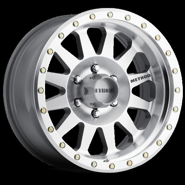 17x8.5//5x4.5 Method Race Wheels NV Matte Black Wheel with Zinc Plated Accent Bolts 0 mm offset