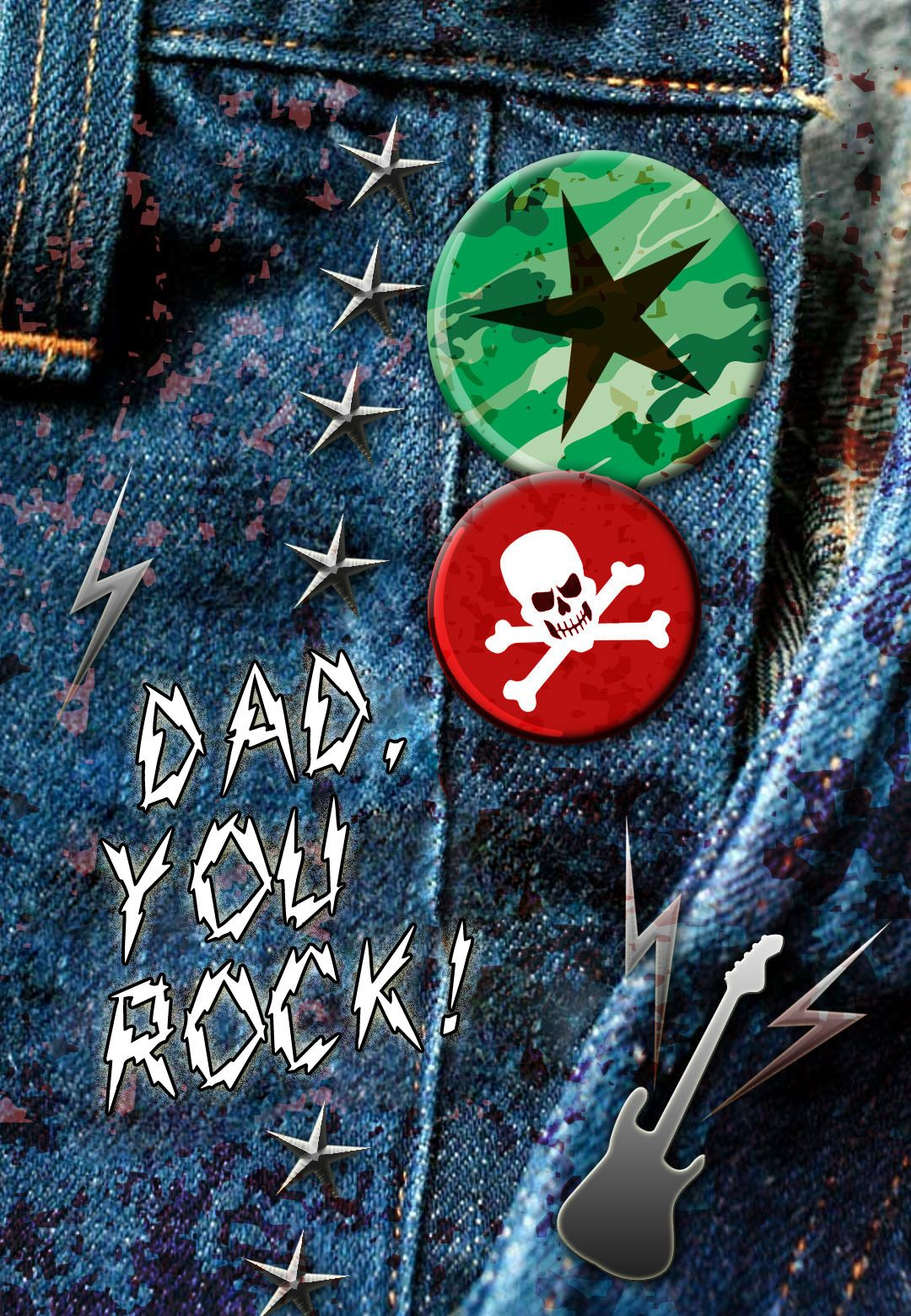 Father S Day Card Free Printable Dad You Rock Fathersday