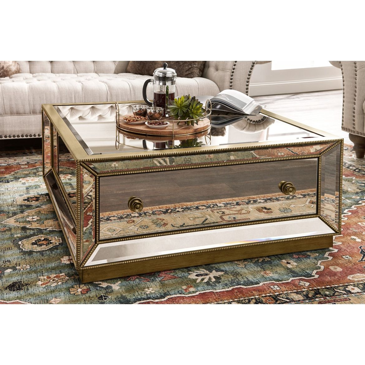 Best Reflection Coffee Table In 2020 Mirrored Coffee Tables 400 x 300
