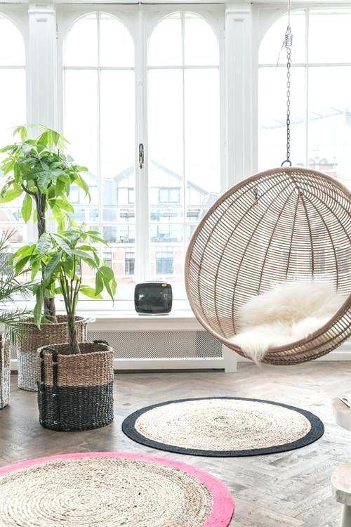 Hängesessel Wohnzimmer - Dekoration ideen  Oturma odası