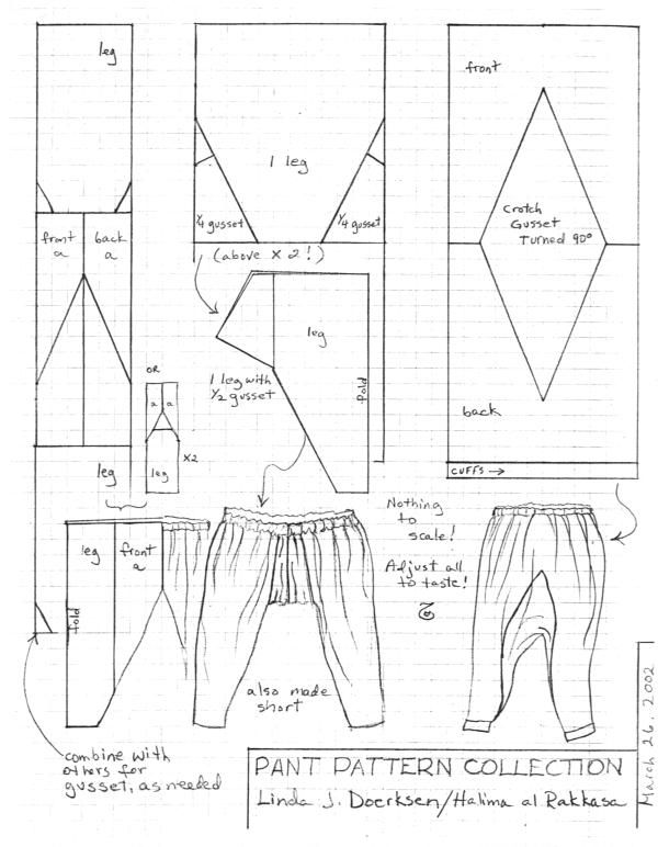 Gusseted sca pants patterns | Sewing for me... | Pinterest | Costura ...