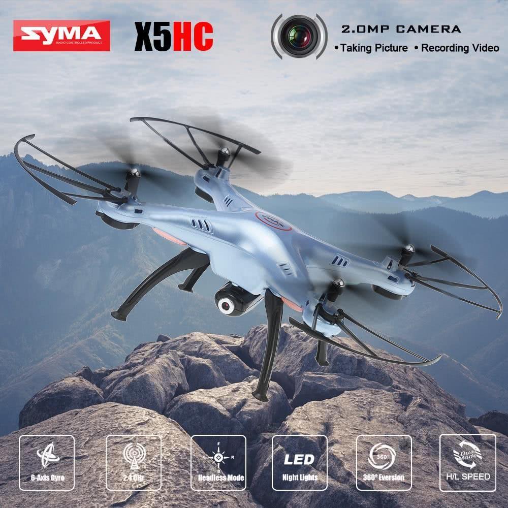 Syma X5hc 2mp Hd Camera 2 4g 4ch 6axis Altitude Mode Rc Quadcopter X8c Venture 24ghz With Mp Full White Rtf