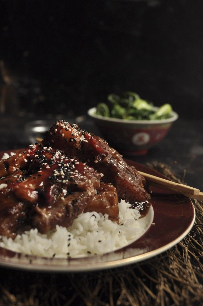 Chinese Pork with Plum sauce | Chinese pork. Pork belly. Food