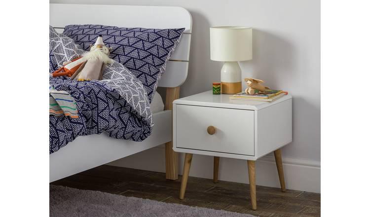 Buy Argos Home Bodie 1 Drawer Bedside Table White Bedside Tables White Bedside Cabinets Bedside Cabinet Scandi Bedside Table