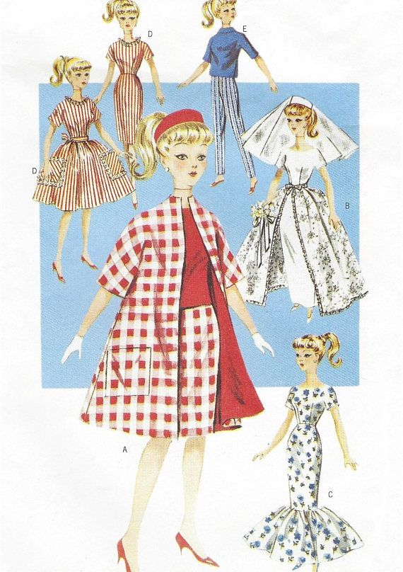 Retro 11 1/2 Inch Fashion Doll Clothes 1950s Outfits for Barbie Tent ...