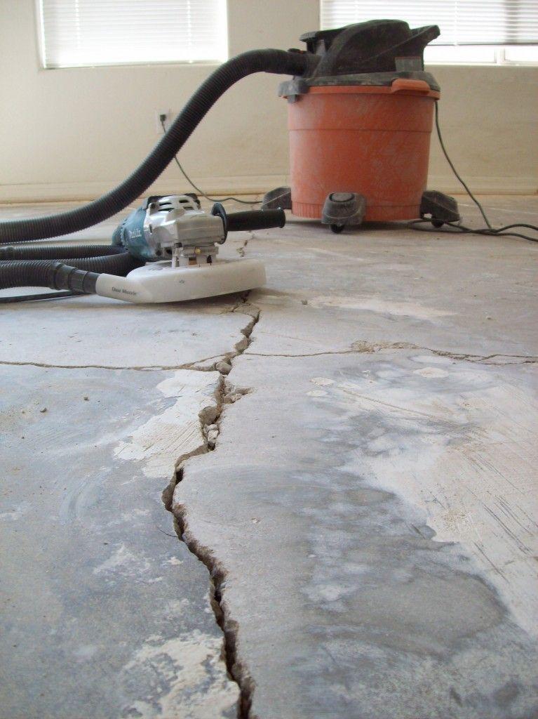 Grinding Concrete Floors To Make Way For New Tile Flooring Description From Concreterepairman Co Concrete Floor Repair Repair Cracked Concrete Concrete Floors