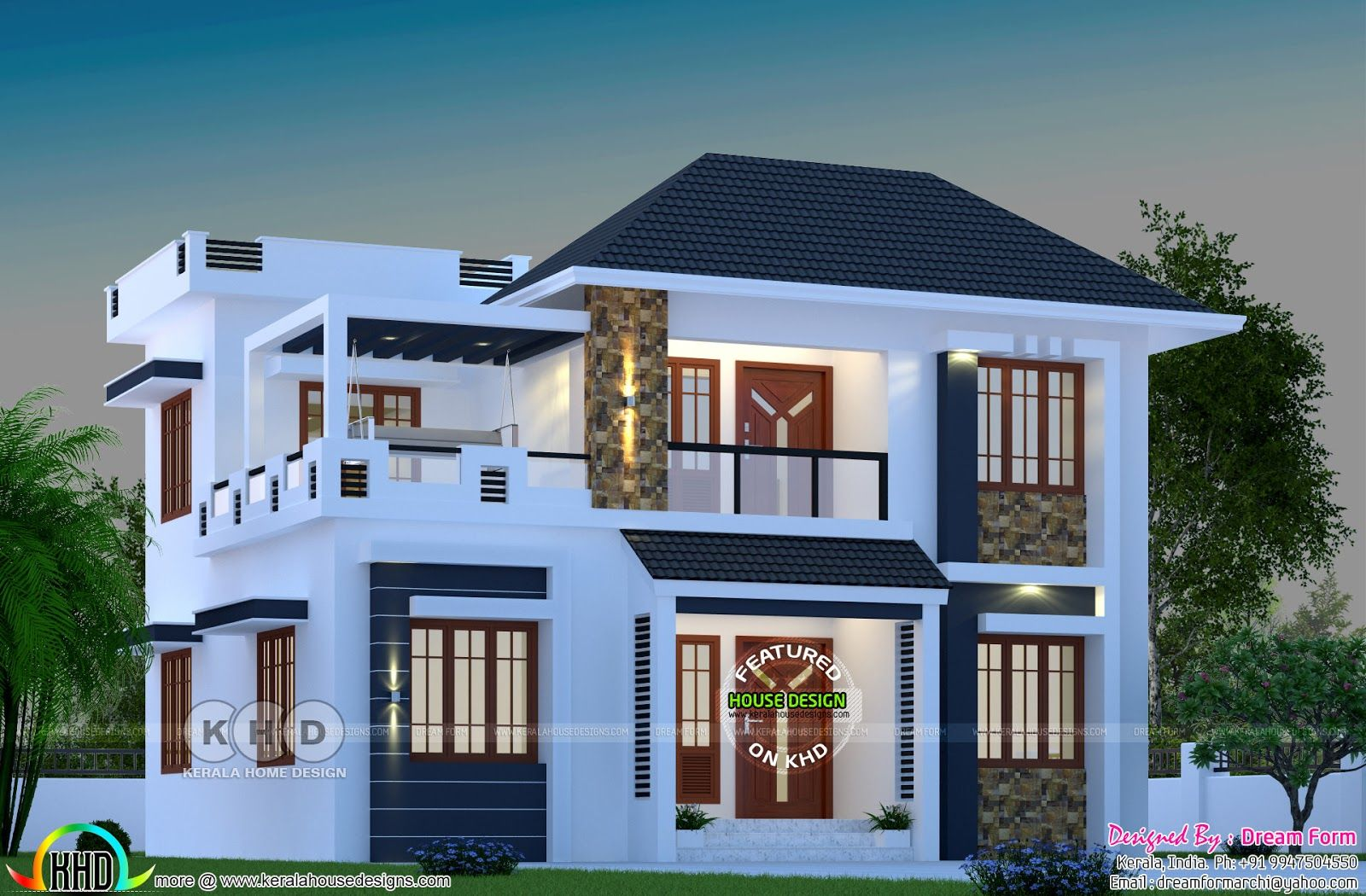 1744 square feet modern home with 4 bedrooms | Kerala ...