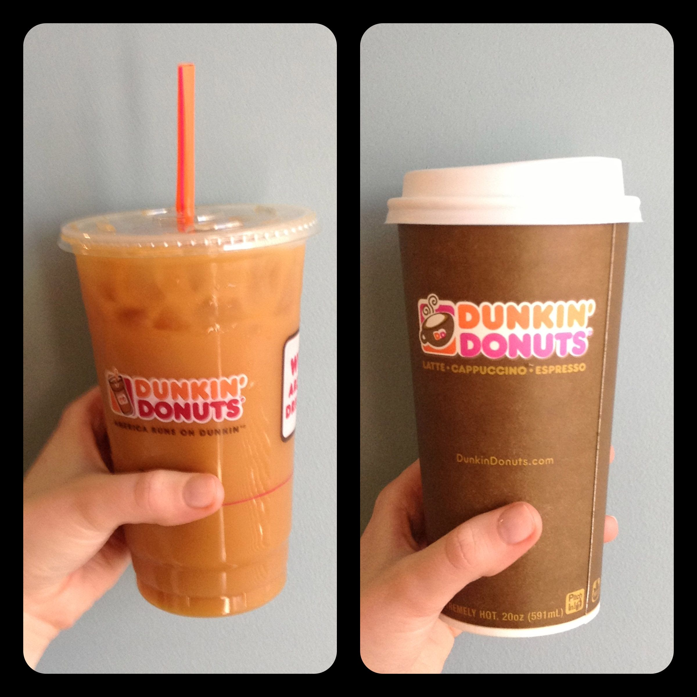 Iced Or Hot Latte From Dunkin'?