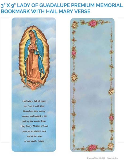 Create Laminated Memorial Bookmarks With Lamcraft S 3 X 9 Lady Of