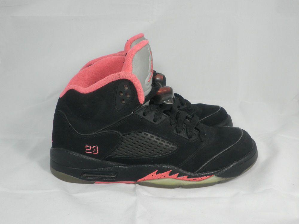 Vtg OG 2010 Nike Air Jordan V 5 s sz 5.5y Black Alarming Retro Fire