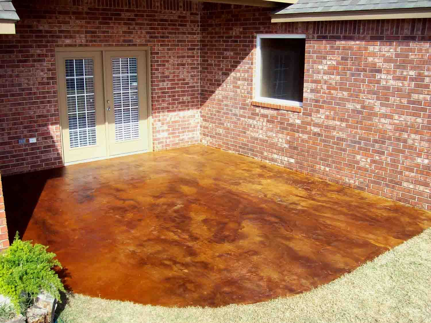cola acid stain diluted with sprayable satin finish sealer