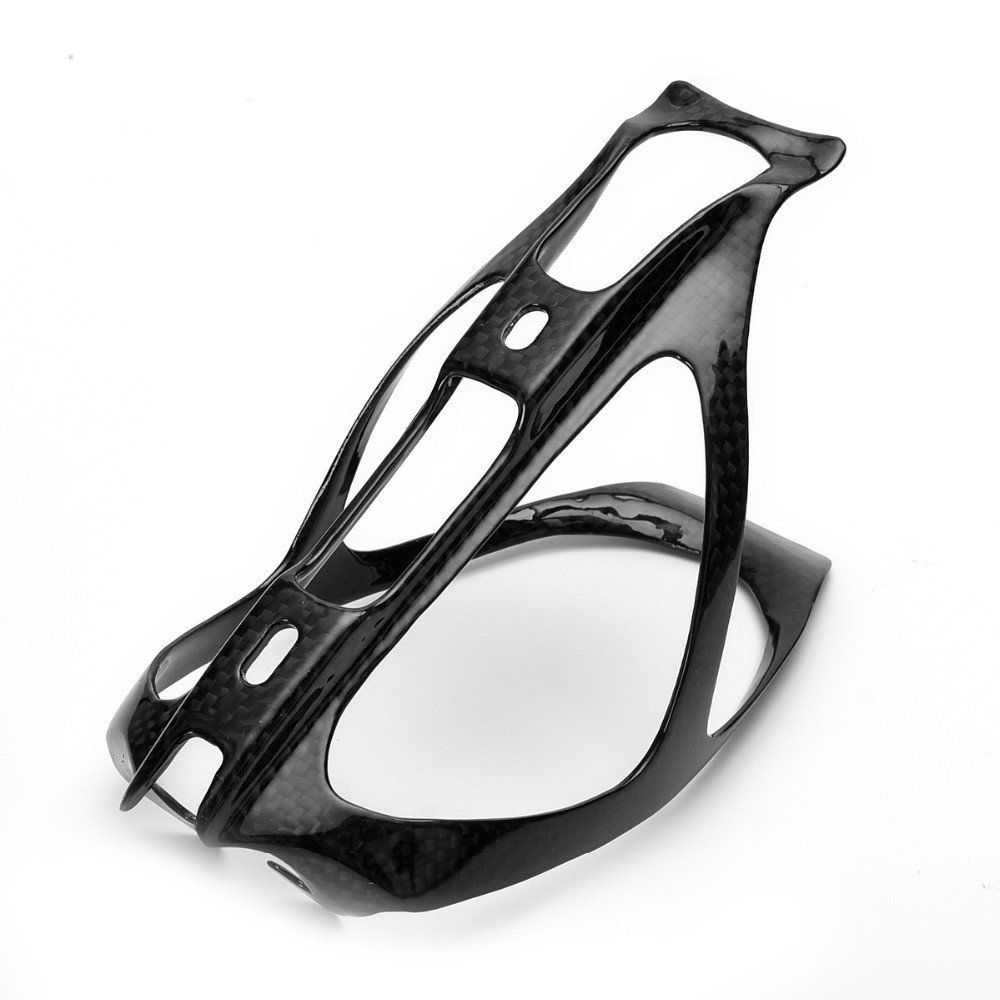 1Pcs Full Carbon Fiber Road Mounting Bicycle Bike Cycling 3K Water Bottle Holder Lightweight Durable