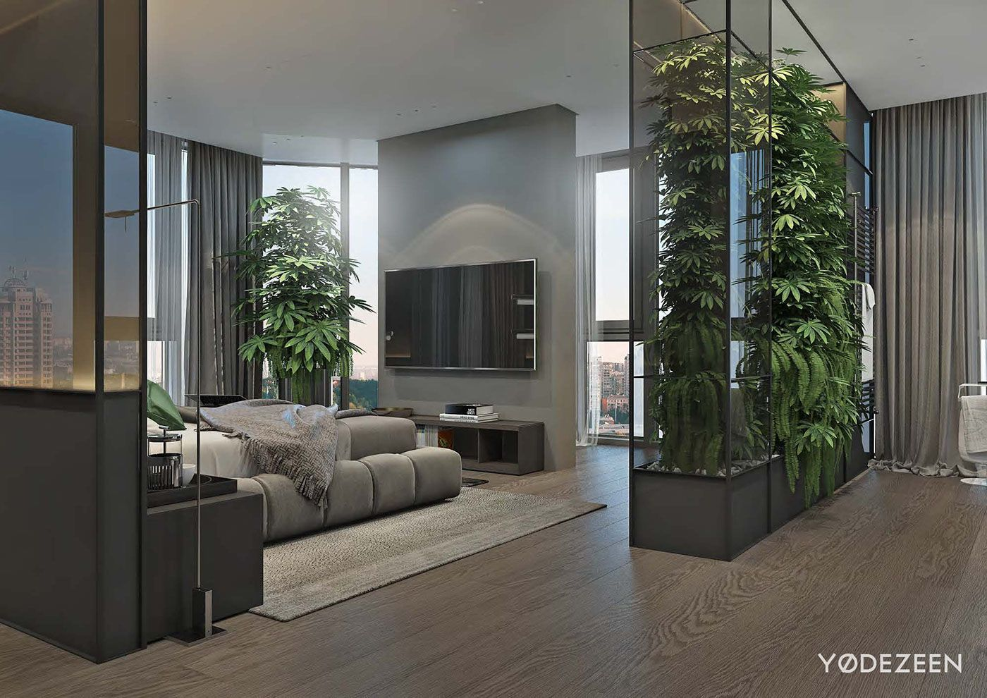 Luxurious Apartment Design Arranged By Contemporary And Organic